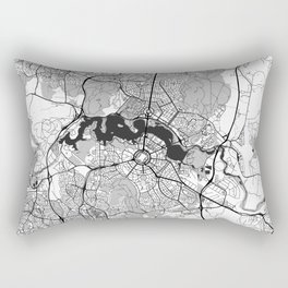 Canberra Map Gray Rectangular Pillow