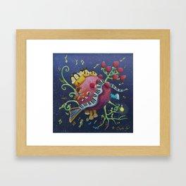 Justine 's planet Framed Art Print