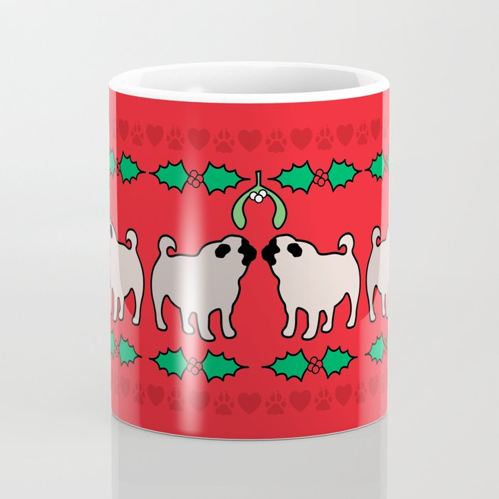 christmas pugs and kisses Coffee Mug