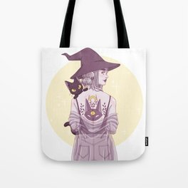Cat Witch Tote Bag