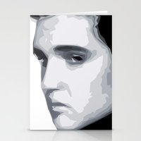 elvis presley Stationery Cards featuring Elvis Presley by  David Somers