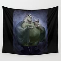 fat Wall Tapestries featuring Fat Boy by Richtoon
