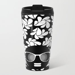 Afro Diva : Black & White Travel Mug