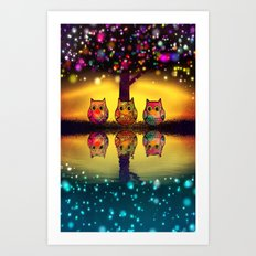 owl-202 Art Print
