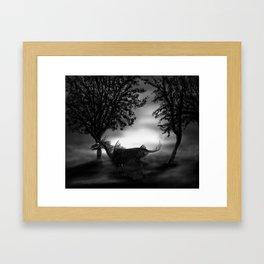 Undead unicorn Framed Art Print