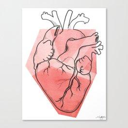 Heart Lines Canvas Print