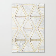 gOld rhombus Canvas Print