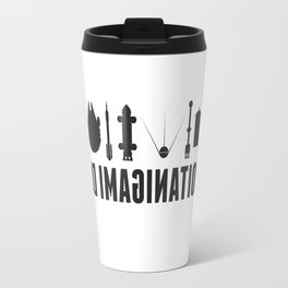 Beyond imagination: USS Enterprise postage stamp  Travel Mug
