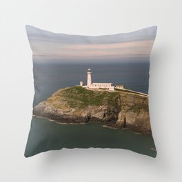 The South Stack Lighthouse Throw Pillow