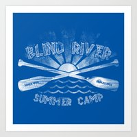 camp Art Prints featuring Camp by Blind River