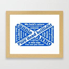 Scottish slang and phrases Framed Art Print