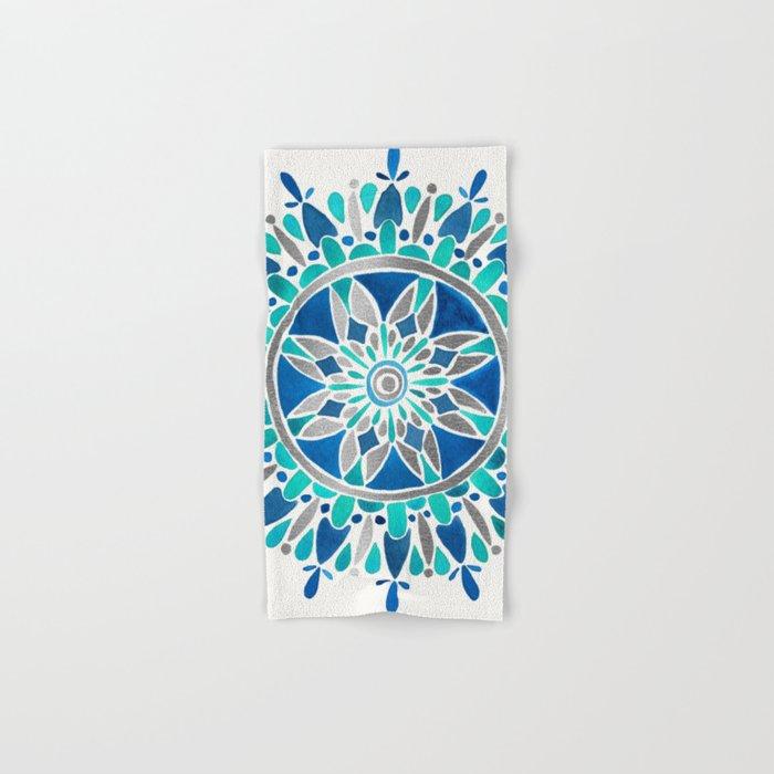 Mandala – Silver & Blue Hand & Bath Towel