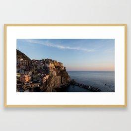 Manarola,Italy at Sunset Framed Art Print