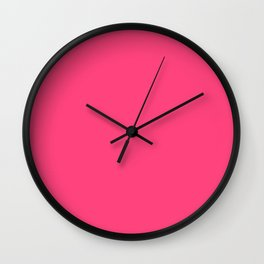 Intensively Pink Wall Clock