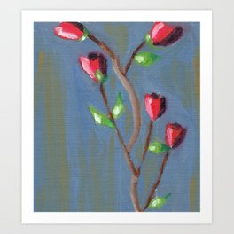 Roses in oil Art Print