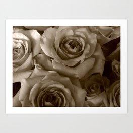 Ghost Roses Art Print