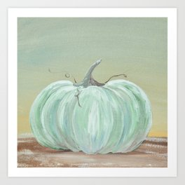 Ready for Fall Cinderella pumpkin Art Print