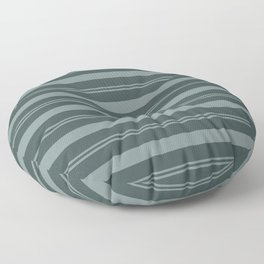 Scarborough Green PPG1145-5 Thick and Thin Horizontal Stripes on Night Watch PPG1145-7 Floor Pillow