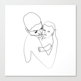 """"""" Mother's Day """" - Mother Hugging Child Canvas Print"""