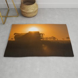 Midsummer time is harvest time of the cereal fields Rug