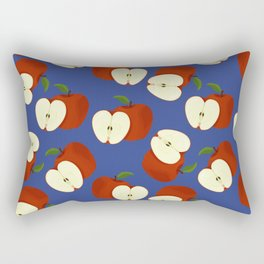 apples on blue Rectangular Pillow
