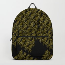 Metal Lace - golden yellow on black Backpack