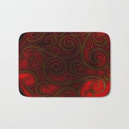 Red Illumination Bath Mat