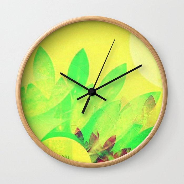 Tropical Sun Drops heat Wall Clock