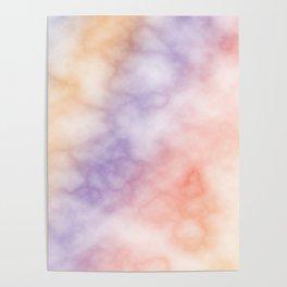 Rainbow marble texture 1 Poster