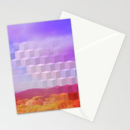 Ultra Surreal Countryside Violet Rainbow Stationery Cards
