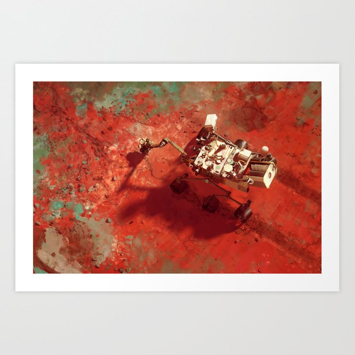 Mars Science Laboratory - Curiosity Art Print by macrebisz
