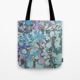 Aquabubble marbleized print Tote Bag