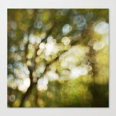 Abstract bokeh tree Canvas Print