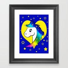 Good Night Unicorn Framed Art Print