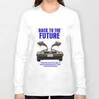 back to the future Long Sleeve T-shirts featuring Back To The Future by FunnyFaceArt