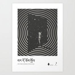 The tibetan book of the dead - literary art series Art Print
