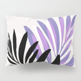 Lavender Olive Branches / Contemporary House Plant Drawing Pillow Sham