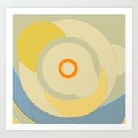 Simple circle pattern Art Print