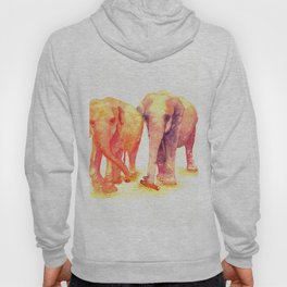 A couple of elephants Hoody