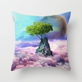 spectator of worlds Throw Pillow