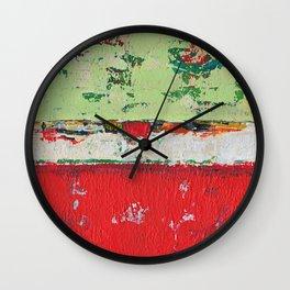 Dixon Red Green Abstract Painting Print Wall Clock
