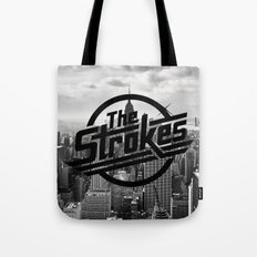 The Strokes Logo New York Black And White Tote Bag