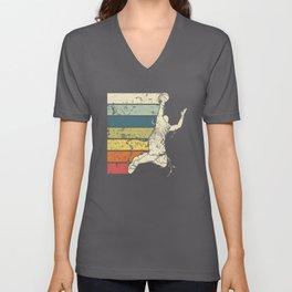 Basketball Player Vintage Unisex V-Neck