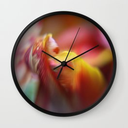 Tulip Bokeh Wall Clock
