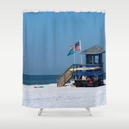 Siesta Key Lifeguard Station Shower Curtain