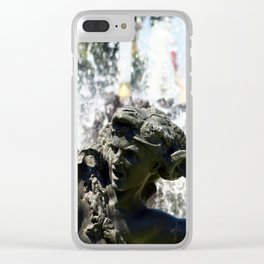 JC Nichols Fountain Clear iPhone Case