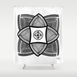 Mimbres Series - 10 Shower Curtain