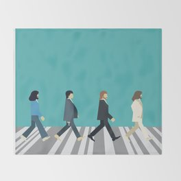 The tiny Abbey Road Throw Blanket