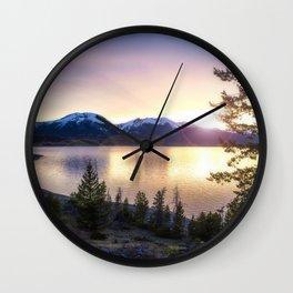 Lake Dillon, Colorado Sunset Wall Clock