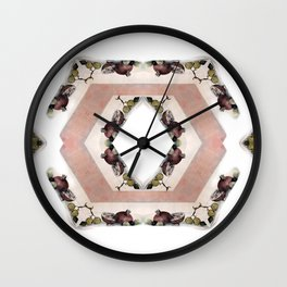 Fruit Diamonds Photographic Pattern #1 Wall Clock